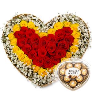 안개하트꽃박스(초코렛무료증정)