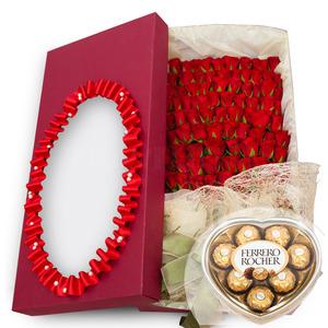 100송이꽃박스4호(초콜렛무료증정)
