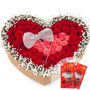 빨강분홍꽃상자(빼빼로2개무료증정)